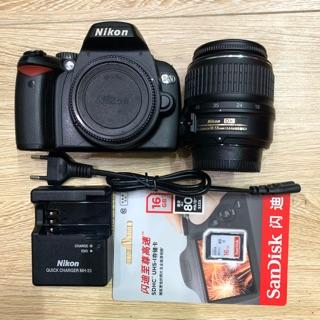 Bộ máy ảnh Nikon D60 kèm lens Kit 18-55