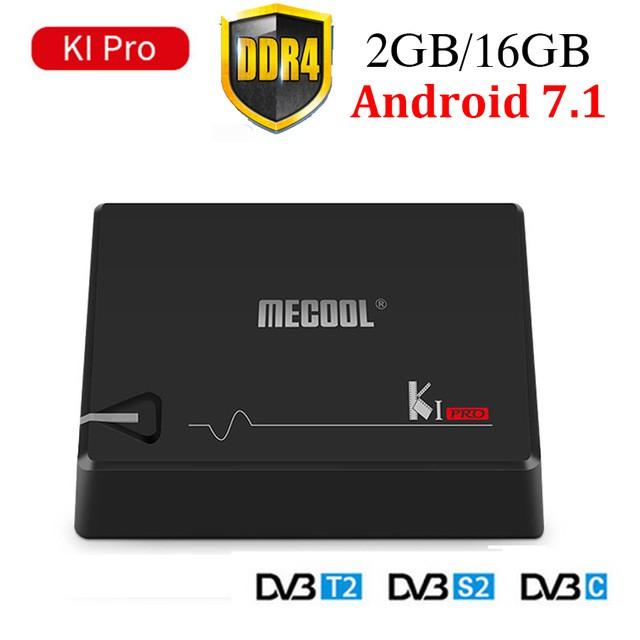 MECOOL KI PRO android box đa năng | Chíp S905D | Ram 2gb ddr4 | Rom 16gb | Xem truyền hình DVB T2+DV