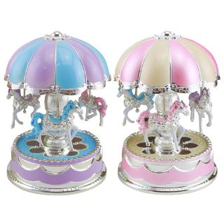 Music Box Carrousel Horse Romantic Octave Light Dome Rotation Colorful Baby Gift