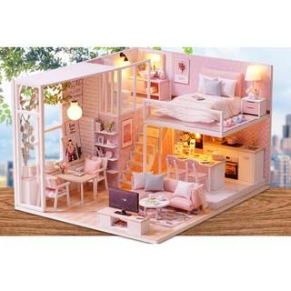 Mô hình nhà gỗ DIY Biệt thự Tình yêu