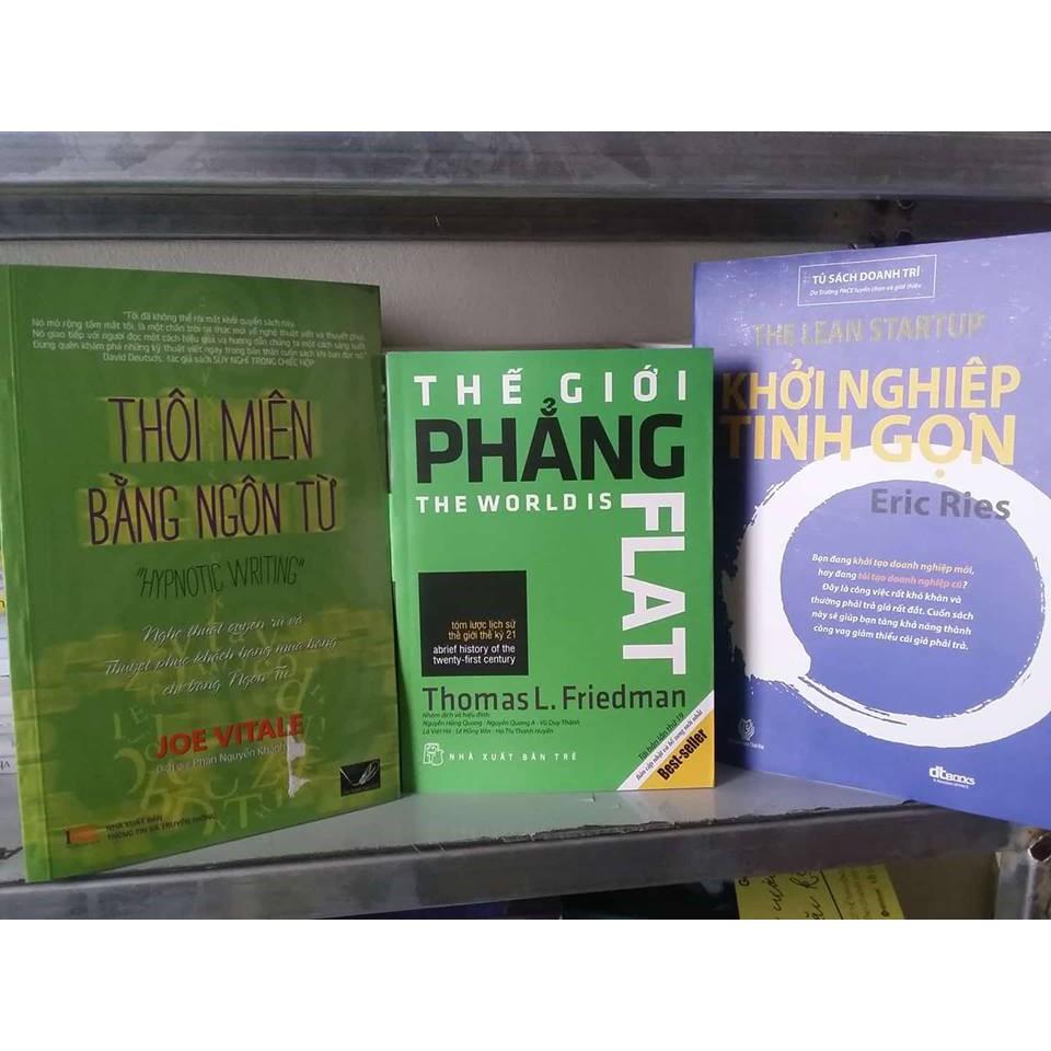 Sách - Combo 3 Cuốn: Thôi Miên + Thế Giới Phẳng + Khởi Nghiệp Tinh Gọn