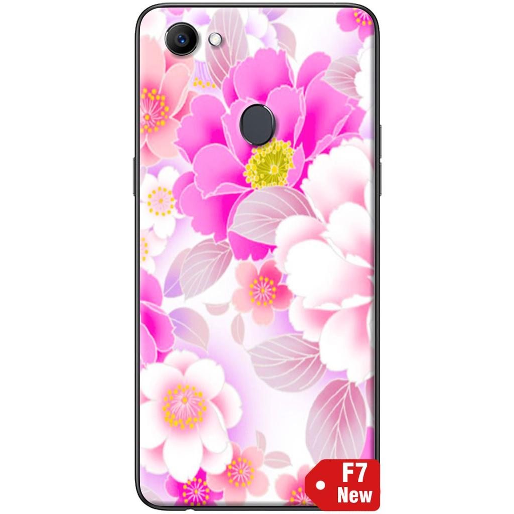 Ốp lưng nhựa dẻo Oppo F7 Hoa hồng phấn