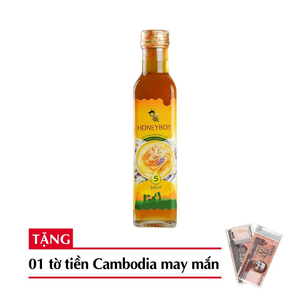 Mật ong thiên nhiên 5 sạch 250ml + tặng 1 tờ tiền Cambodia hình phật may măn - 3148807 , 995470822 , 322_995470822 , 86900 , Mat-ong-thien-nhien-5-sach-250ml-tang-1-to-tien-Cambodia-hinh-phat-may-man-322_995470822 , shopee.vn , Mật ong thiên nhiên 5 sạch 250ml + tặng 1 tờ tiền Cambodia hình phật may măn