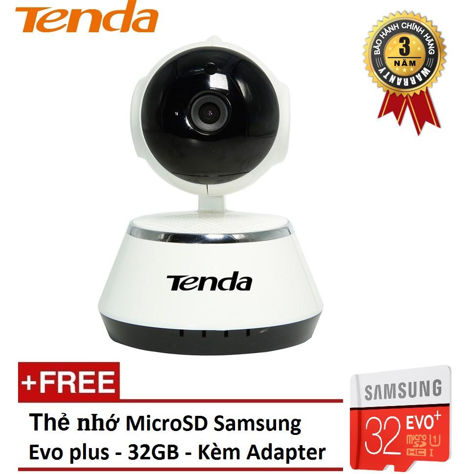 [NHẬP MÃ TAVACAMR- GIẢM NGAY 100K] Camera IP Wifi giám sát & báo động Tenda C50+ (Trắng) - Tặng kèm