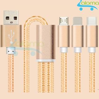 [Mã ELFLASH5 giảm 20K đơn 50K] Cáp sạc 3 trong 1 Lightning, micro USB, type C