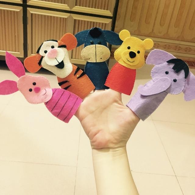 Bộ 5 Rối ngón tay Gấu Pooh và những người bạn ( hình thật)