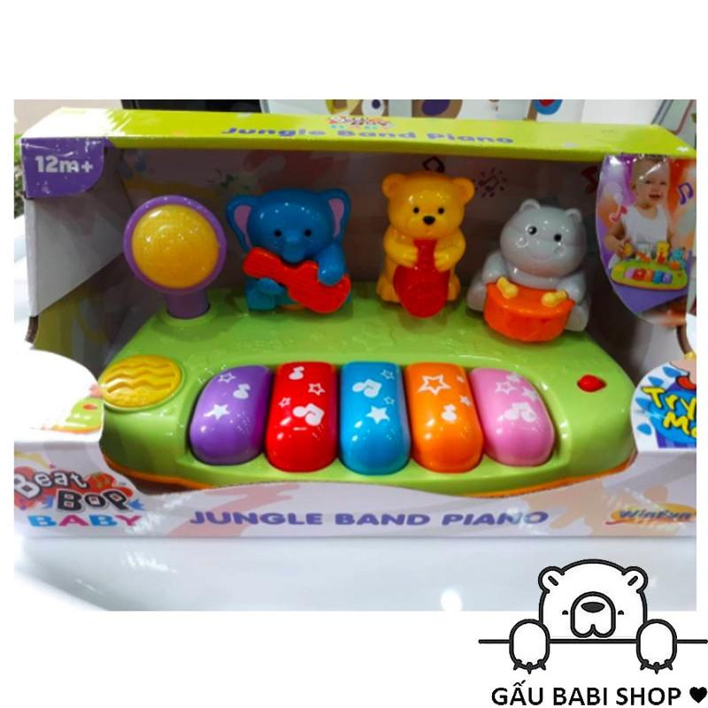 Đàn nhạc Piano đồ chơi động vật hoang dã mini WinFun - Chính hãng