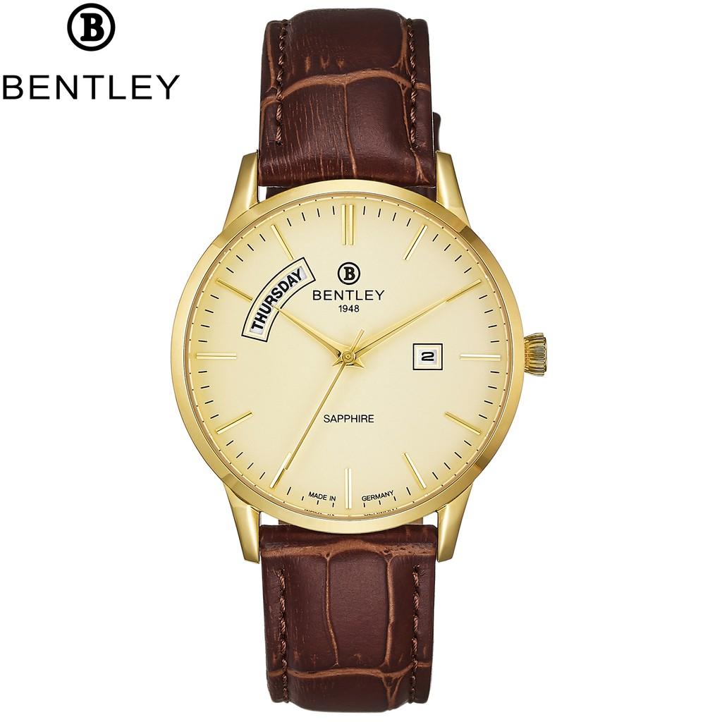 Đồng hồ nam dây da mặt kính chống xước Bentley BL1864 BL1864-10 BL1864-10MKKD