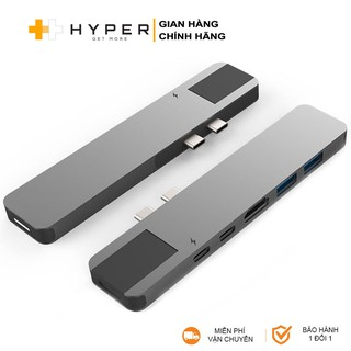 Cổng chuyển HyperDrive Net 6-in-2 USB-C Hub cho Macbook Pro 13/15inch 2016-2016-2018-2019