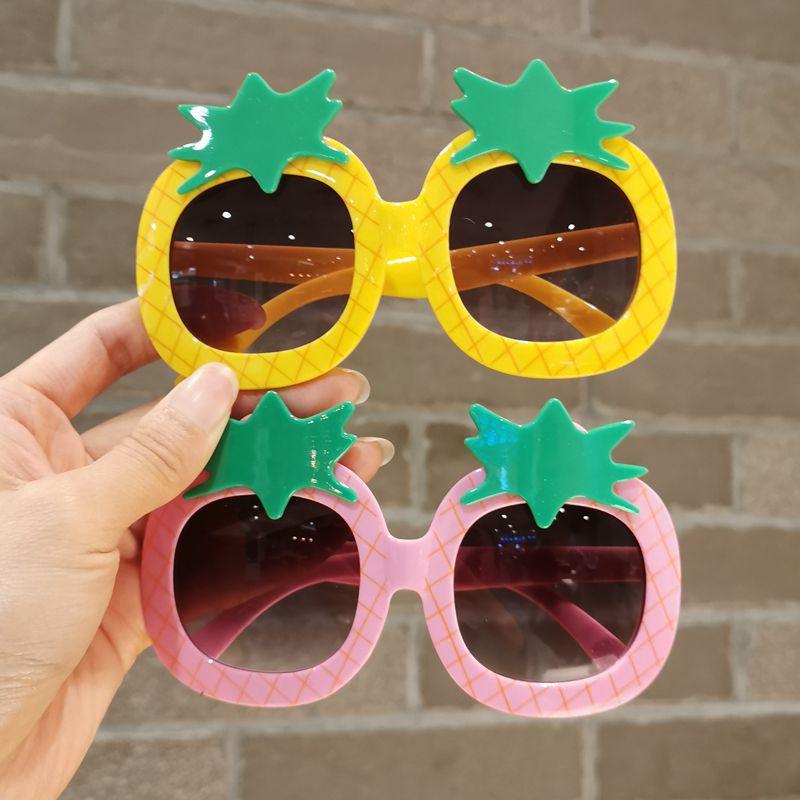 Children's Glasses Small Baby Summer Travel Sunglasses Men And Girls Cute Pineapple Aging Photo Sunglasses