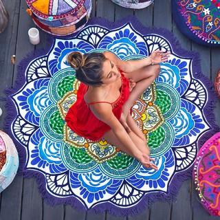 Thảm tròn họa tiết hoa văn Mandala