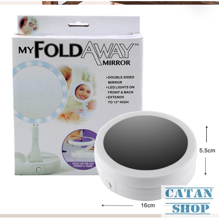 Gương trang điểm để bàn đèn led, gương led, kiếng make up SLED-GTDDB