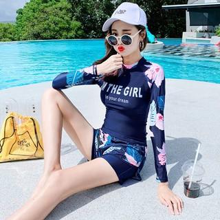 Đồ bơi, áo tắm dài tay họa tiết xinh xắn-bộ bơi nữ-bikini