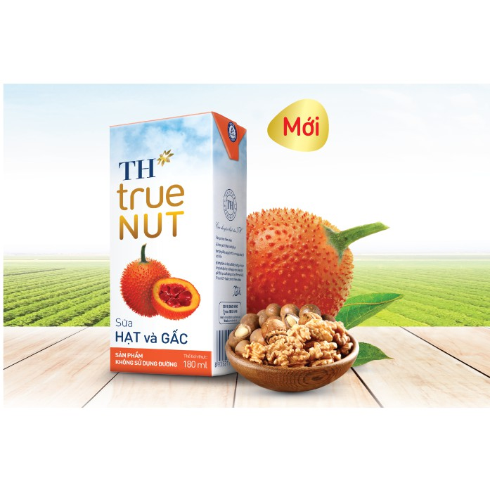 Sữa hạt và Gấc TH true NUT 180 ml