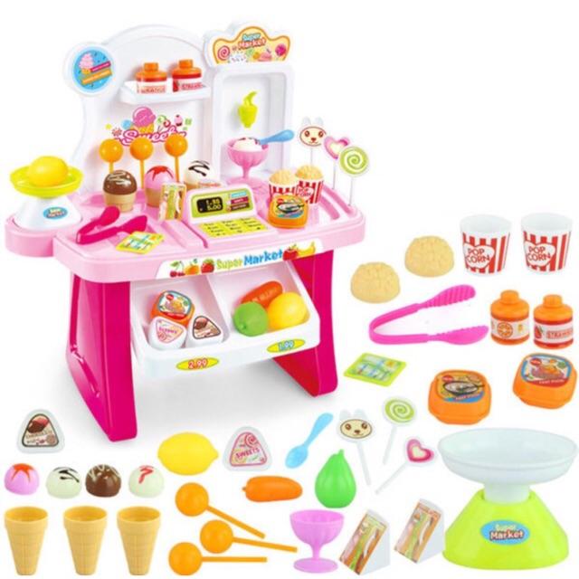 [SHOPEE TRỢ GIÁ] Bộ đồ chơi Siêu thị kẹo kem có âm thanh, ánh sáng
