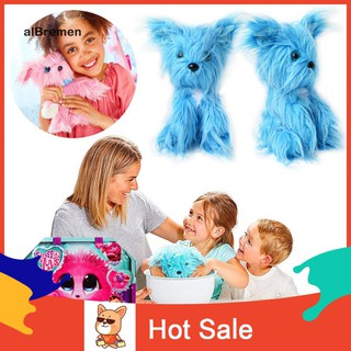 ✌Al Cute Pomsies Soft Plush Puppy Toy Bathing Dog Model Kids Surprise Stuffed Doll