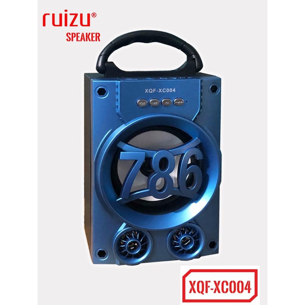 Loa bluetooth mini xách tay Ruizu XQF-XC004 - có đèn Led (Xanh) - Hãng phân phối chính thức