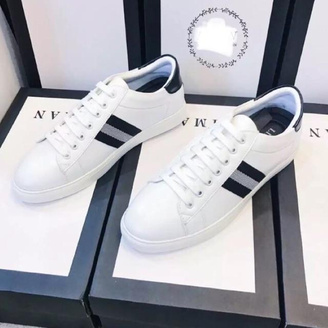 Giày thể thao nam hàn quôc - sọc đen sọc trắng