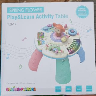 Bàn họa động và chơi cho bé 12 tháng spring flower