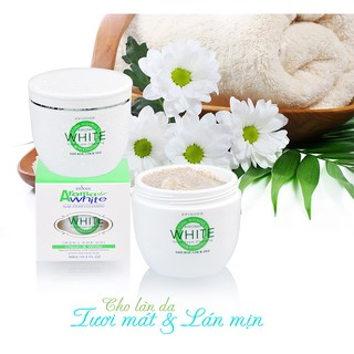 (300g) Sữa tắm cát trắng da AROMA white scrub foam cleansing thumbnail