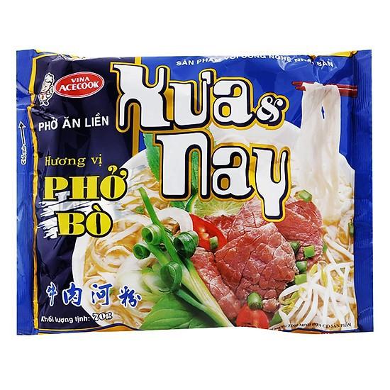 Phở bò ăn liền Xưa Và Nay Vina Acecook gói 70g