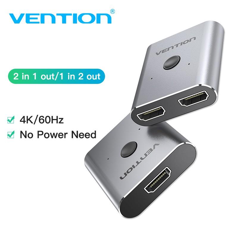 Bộ chia cổng HDMI Vention 4K phân chia 1 thành 2 cho TV Stick PC