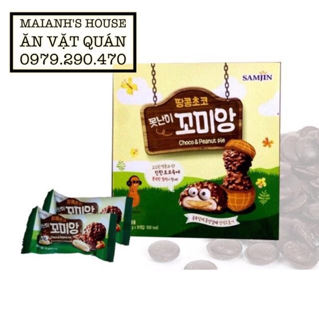 Bánh mochi Choco Peanut Pie Samjin Hàn Quốc - hộp 10 bánh x 36g - 2504061 , 266132149 , 322_266132149 , 80000 , Banh-mochi-Choco-Peanut-Pie-Samjin-Han-Quoc-hop-10-banh-x-36g-322_266132149 , shopee.vn , Bánh mochi Choco Peanut Pie Samjin Hàn Quốc - hộp 10 bánh x 36g