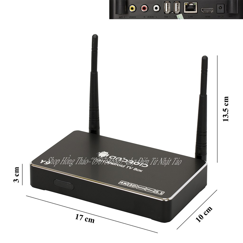 Đầu Android TV Box Y9 - 2GB RAM 8GB ROM - 2807763 , 192224704 , 322_192224704 , 750000 , Dau-Android-TV-Box-Y9-2GB-RAM-8GB-ROM-322_192224704 , shopee.vn , Đầu Android TV Box Y9 - 2GB RAM 8GB ROM