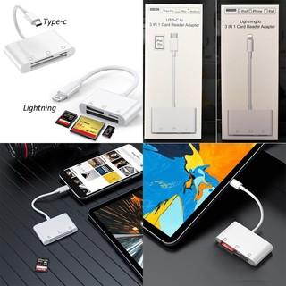 Đầu đọc thẻ CF/SD/Micro SD cho iphone, ipad, samsung