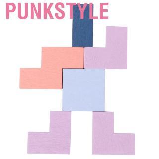 Punkstyle 3 In 1 Wooden Tetris Puzzle Baby Kids Children Educational Blocks Building Intelligent Toy The J