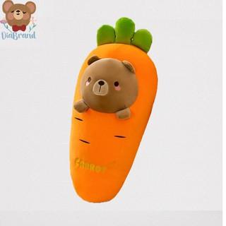 Gấu Bông Trái Cây Cà Rốt Hình Mặt Thú Cưng Size 58cm-45cm (3 Mẫu) [ Diabrand ]