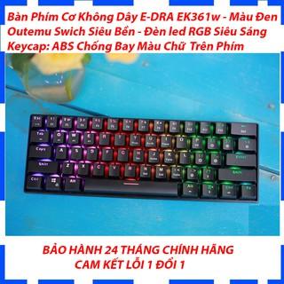 Bàn Phím Cơ Bluetooth E-DRA EK361W – Màu Đen – Đèn led RGB siêu sáng – Bàn phím cơ 61 phím – Bảo hành 24 tháng