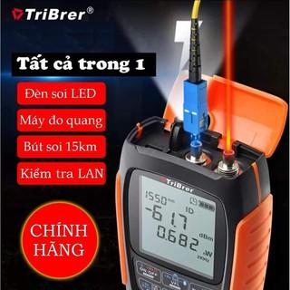 Máy đo💥FREESHIP💥Công suất quang mini TriBrer APM50NT Tích Hợp Đèn Soi – VFL 15KM -Test LAN