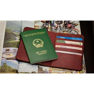 Ví đựng passport handmade da bò nhập khẩu - Ví đựng Passport Mino Crafts VI316 thumbnail