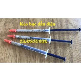 Keo Bạc Dẫn Điện loại ống tiêm. Dung tích 0.3ml/0.5ml/1ml (tỉ lệ bạc 68%)