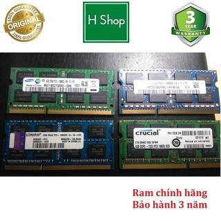 Ram Laptop pc3 (ddr3) 4Gb bus 1333 tháo máy chính hãng, bảo hành 3 năm