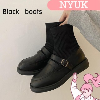 【Giao hàng 24H】 NYUK Socks boots are thin knit elastic stockings