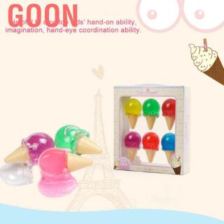 Goon 6 Pcs Crystal Soil DIY Colorful Ice Kids Toys Soft Slime Stress Relief Toy
