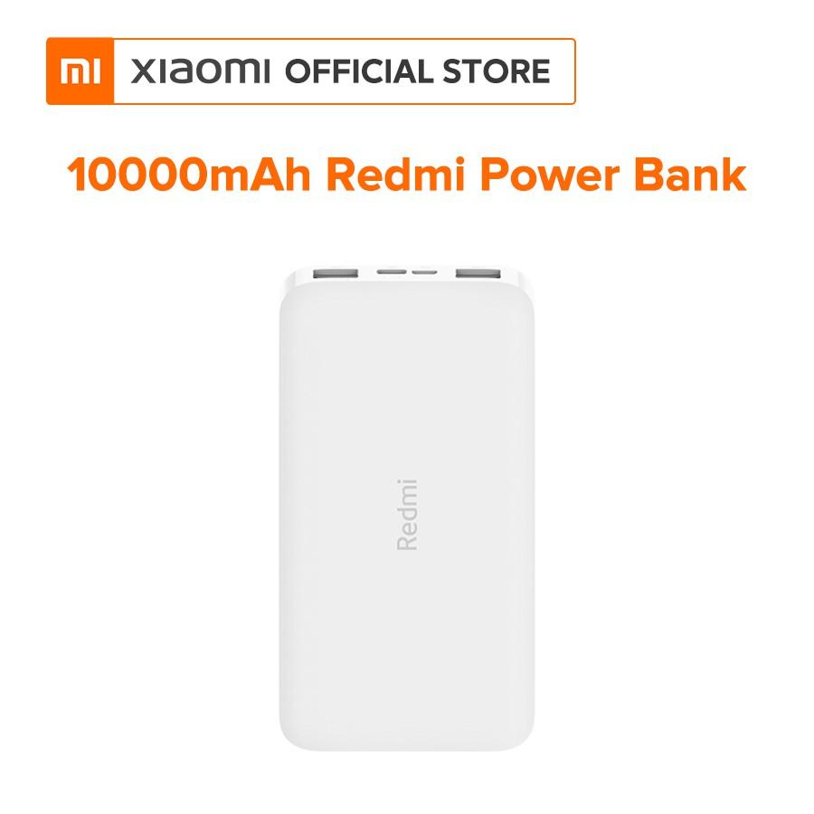 Pin sạc dự phòng Xiaomi Redmi 10000mAh (Trắng) - Hàng chính hãng - Bảo hành 6 tháng