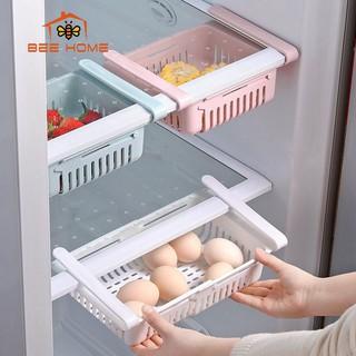 Khay đựng đồ tủ lạnh thông minh -Khay đựng đồ , giỏ đựng đồ tủ lạnh - khay đựng đồ tiết kiệm không gian