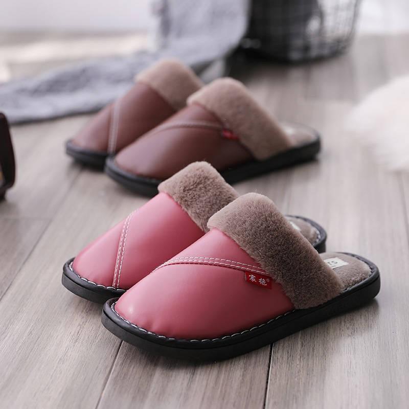 รองเท้าแตะผ้าฝ้ายให้ความอบอุ่น