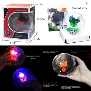 Handheld Basketball Machine Shooting Light Stress Ball Palm Basketball Toy