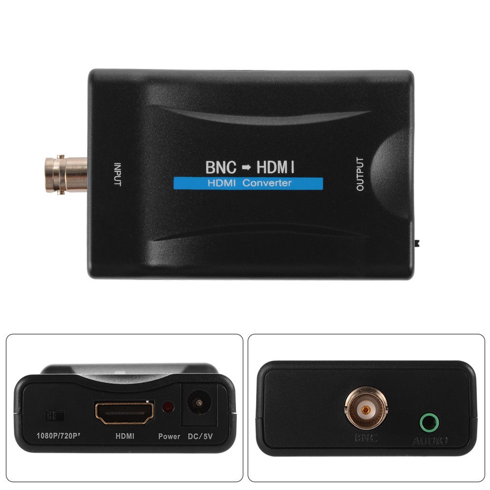 TV Signal HD 1080P/720P Monitor Display Conector Black Surveilance BNC To HDMI With USB Cable Converter Video Adapter
