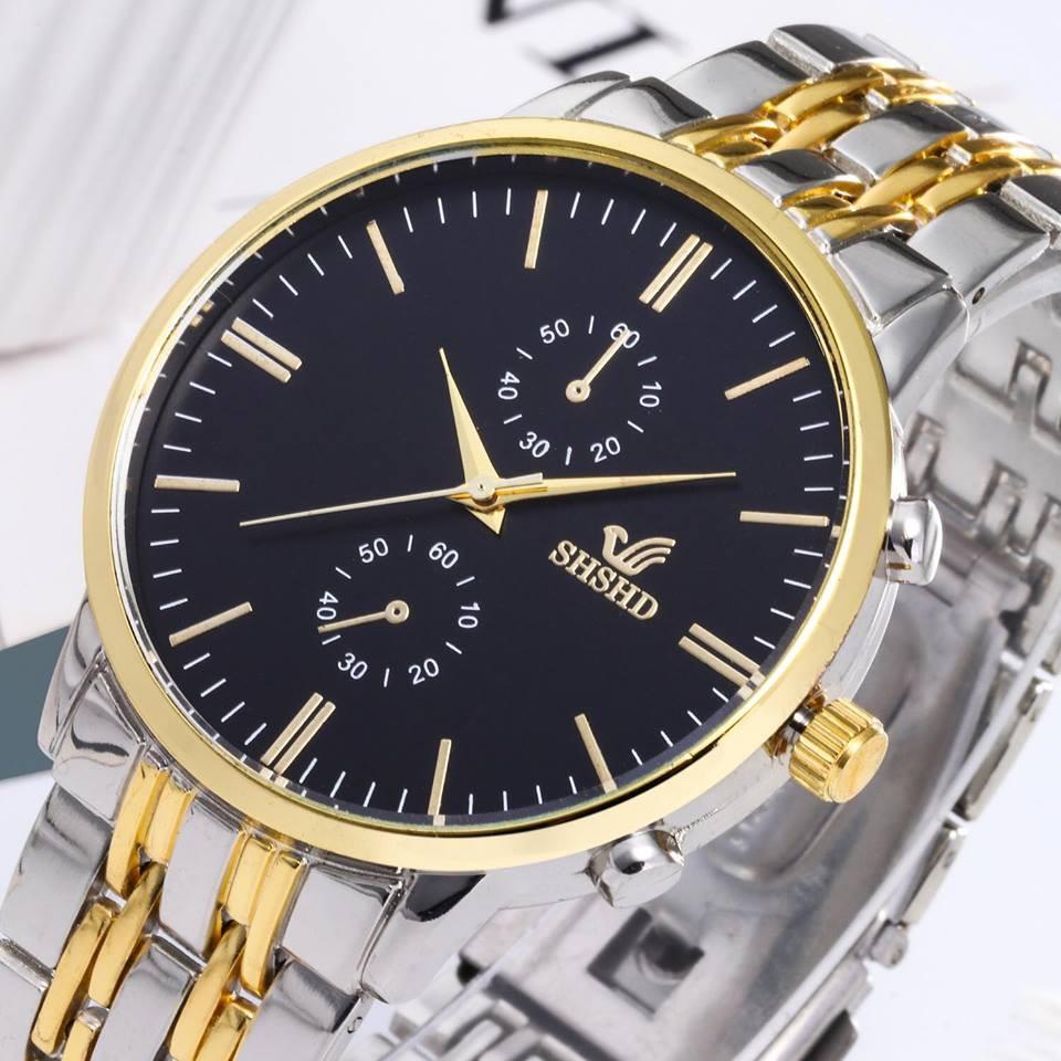 Đồng hồ thời trang nam SHSHD chỉ vàng phong cách