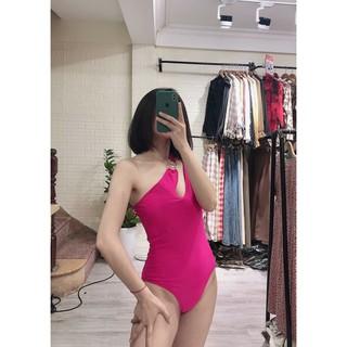 Bikini liền thân 2 khoen quai chéo (da báo, hồng, đen) Eva cửa hàng