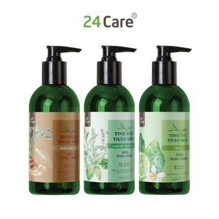 Combo 3 chai dầu gội thảo mộc 24Care phục hồi, ngăn rụng tóc, sạch gàu - (300ml 1chai) thumbnail