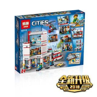 (CÓ SẴN) bộ đồ chơi lắp ráp Lego City 60204 Lepin 02113 Bệnh Viện Thành Phố mới