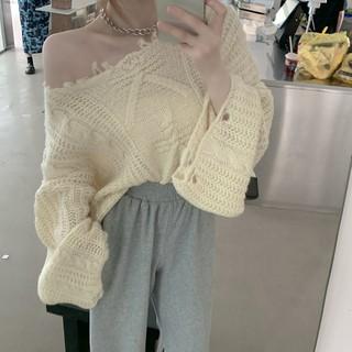 Áo Sweater Tay Loe Trễ Vai Thời Trang Cho Nữ