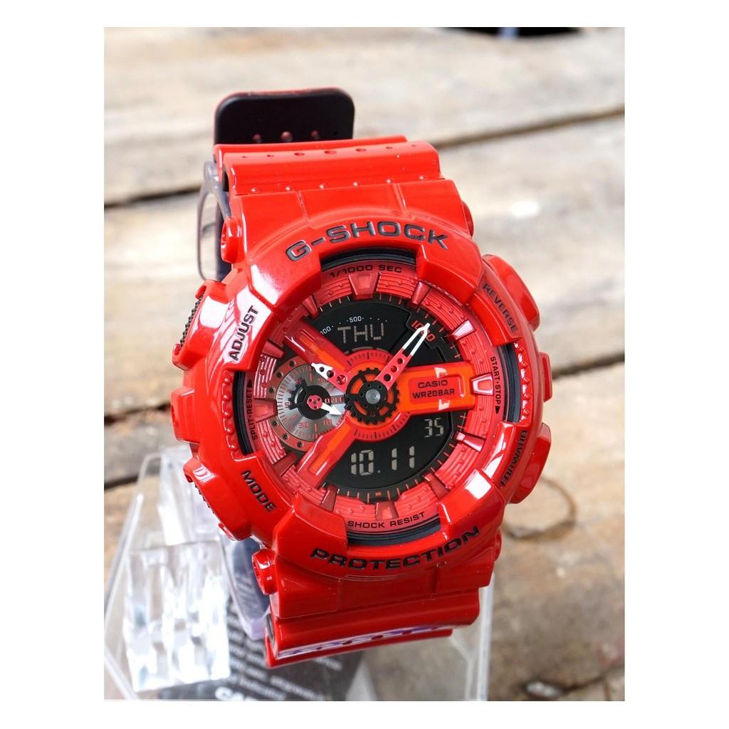 Đồng hồ nam Casio G Shock GA-110LPA-4ADR Dây Nhựa Màu Đỏ - Chống Nước 200m