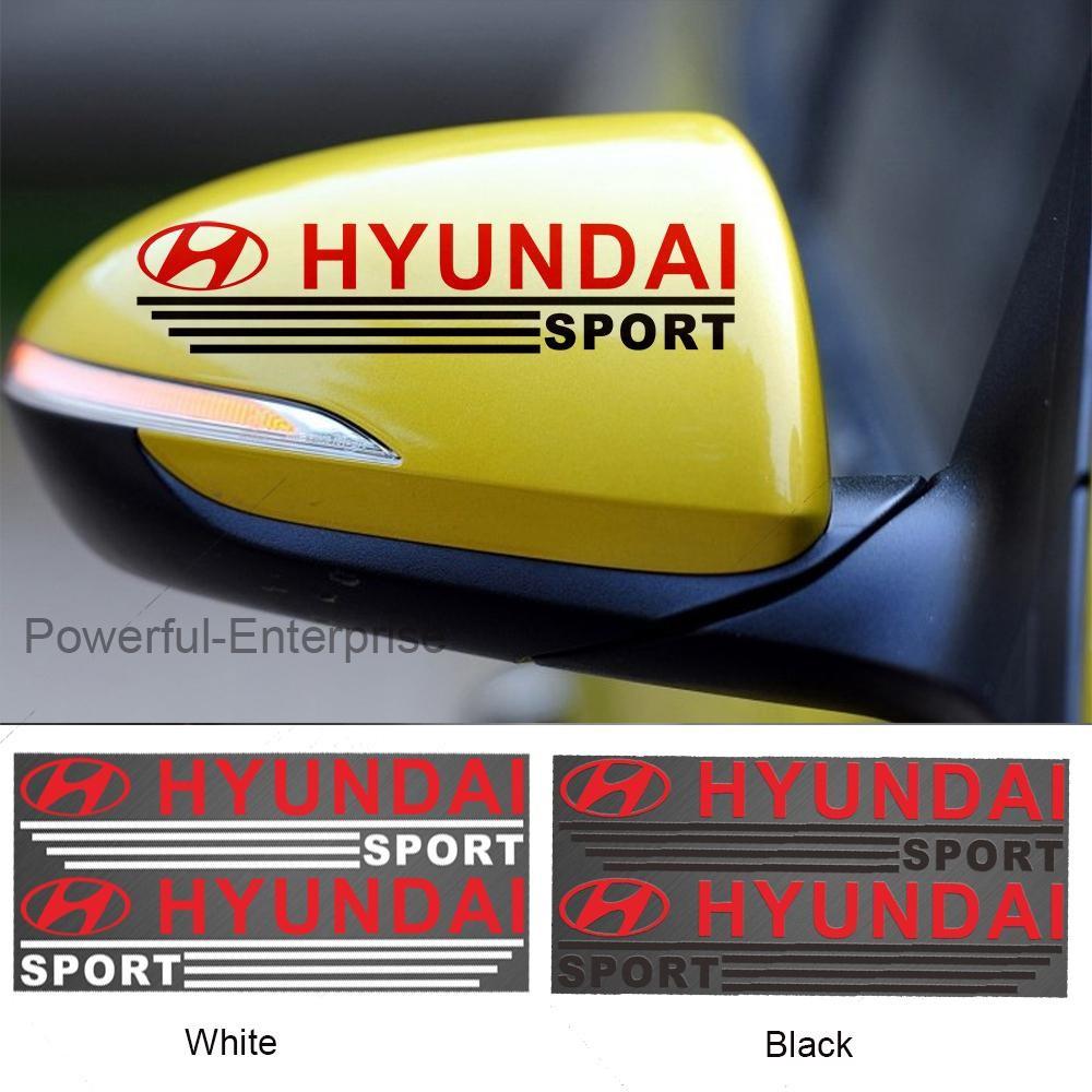 Decal Hyundai dán gương chiếu hậu xe ô tô - Tem dán gương xe hơi